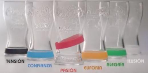Les verres Coca-Cola