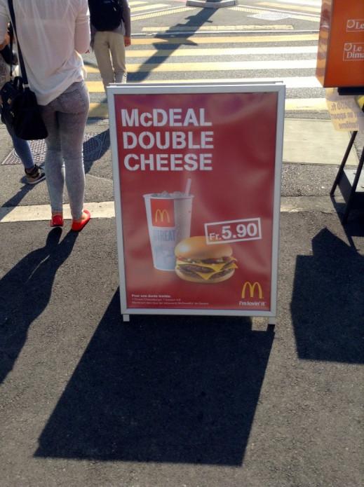 Le Double Cheese à Genève