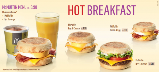 Le petit déjeuner se déploie chez McDonald's